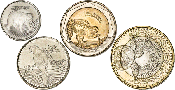 colombia animal coins
