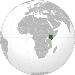 Kenya (orthographic projection)