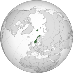 Norway (orthographic projection)