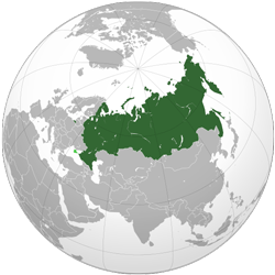 Russia (orthographic projection)