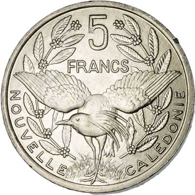 New Caledonia 5-FRANCS (KM16)