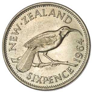New Zealand 6-PENCE (KM26.2)